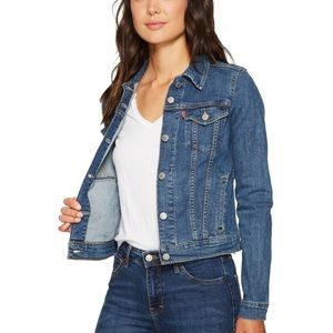 Levi's Denim Trucker Fitted Jacket Distressed S